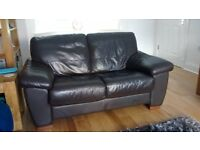 Dark Brown Leather Sofa's - 2 Seater and 3 Seater