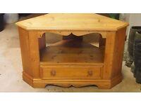pine corner cabinet for television