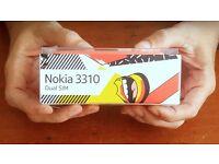 Nokia 3310 Dualsim Genuine New Trasparent Slim Box Sealed , Yellow new 3310 Dual Sim