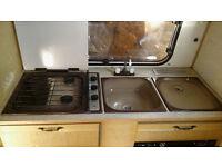 ideal campervan conversion kitchen unit plus cascade 2 water heater and zig unit