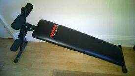 YORK FITNESS BENCH BLACK EXCELLENT CONDITION PICK UP FROM CROYDON