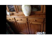 Antique pine table immac condition. 6 chairs. Dresser great storage . Ideal diy project.