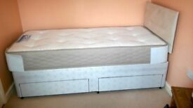 Single divan bed and Sealy mattress