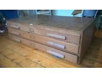 Plan chest/map drawers A0