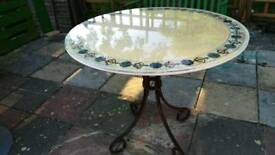 Lovely sunny ,marble, round table