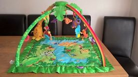 Fisher Price Rainforest Deluxe Play gym with melodies and lights + original packaging.