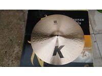 "k zildjian 20""ride cymbal ,new"