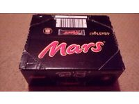 MARS BARS , UNOPENED BOX X48 BANKRUPT STOCK TO CLEAR