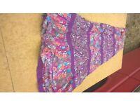 boho floral long skirt