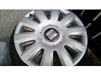 VW, SEAT rims with 195/65/R15 winter tyres and wheel covers