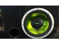 """Fusion 12"""" sub with vibe amp"""