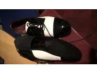 Black and White Patent shoes