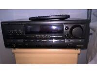 TECHNICS RECEIVER SA-AX 710 .SANSUI CD PLAYER,PIONEER PL7 RECORD DECK PLUS SPEAKERS