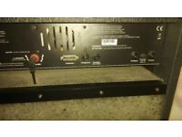 Guitar amplifier with distortion unit
