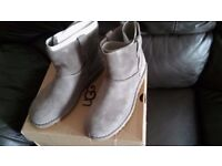 UGG classic suede unlined mini perforated ankle boots size 6 New with box