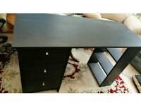 Desk with inbuilt drawers