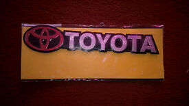 TOYOTA CAR BADGE - FREE DELIVERY!