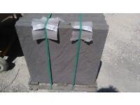 600x600x38mm charcoal square edged slabs