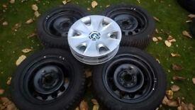 DUNLOP WINTER TYRES 205/55x16 RUN-FLAT BMW 1 SERIES STEEL WHEEL 6-7MM 5JX120 205 55 16