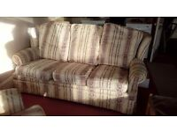 3 piece suite. 2 seater and 2 chairs