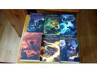 Harry potter paperbacks.