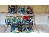 *Silk cushion covers , cat design.