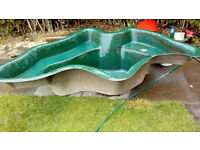 Fish pond GRP good watertight condition.