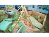 Mamas and Papas Cot Bedding and nursery items in Sunshine Safari.