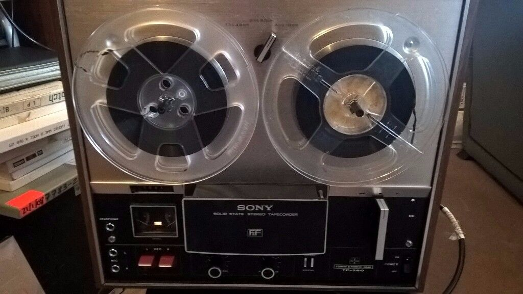 "Sony TC 280 Reel to Reel tape machine - Vintage 5"" reels classic"