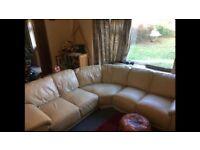 Leather Corner sofa cream