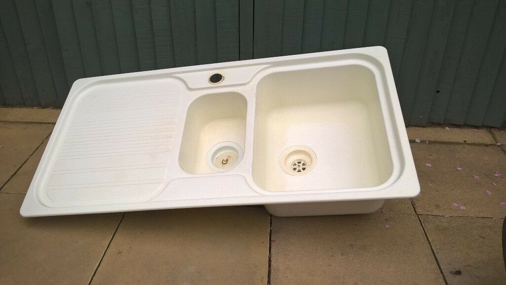 KITCHEN SINK 1 1/2 BOWL CREAM PLASTIC | in Sheffield, South ...