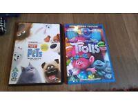Trolls and secret life of pets dvds