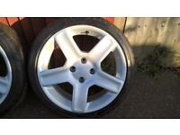 206 gti 180 alloys with nearly new tyres
