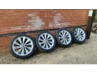 "Volkswagen Turbine 18"" Alloy Wheels Vw Scirocco Passat Cc Caddy 5x112"