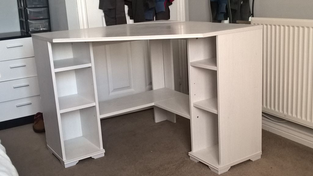 Ikea White Corner Computer Desk In Gorebridge