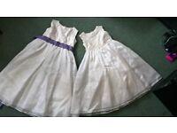 Pair of ZigZag bridesmaids dresses