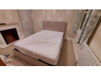 Kingsize ottoman bed with luxury mattress