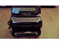 Excelsior 3 row midi accordion