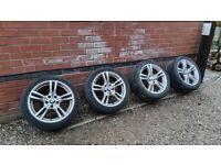 """BMW 400M 18"""" M Sport Alloy Wheels 5x120 3 4 SERIES F30 F32 F33 F34"""