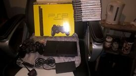 Sony Playstation 2 Slim Console with 10 Games *Price Reduced*