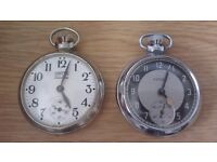 smiths venture pocket watch and a ingersoll triumph open to sensible offers