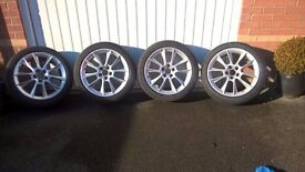 """Saab 18"""" Alloy wheel set & Fitted with Michelin Primacy 3 Tyres"""