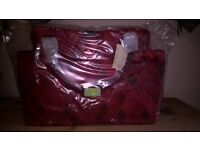 Beautiful brandnew handbags red and plum
