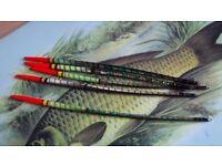 5no handmade fishing quill floats