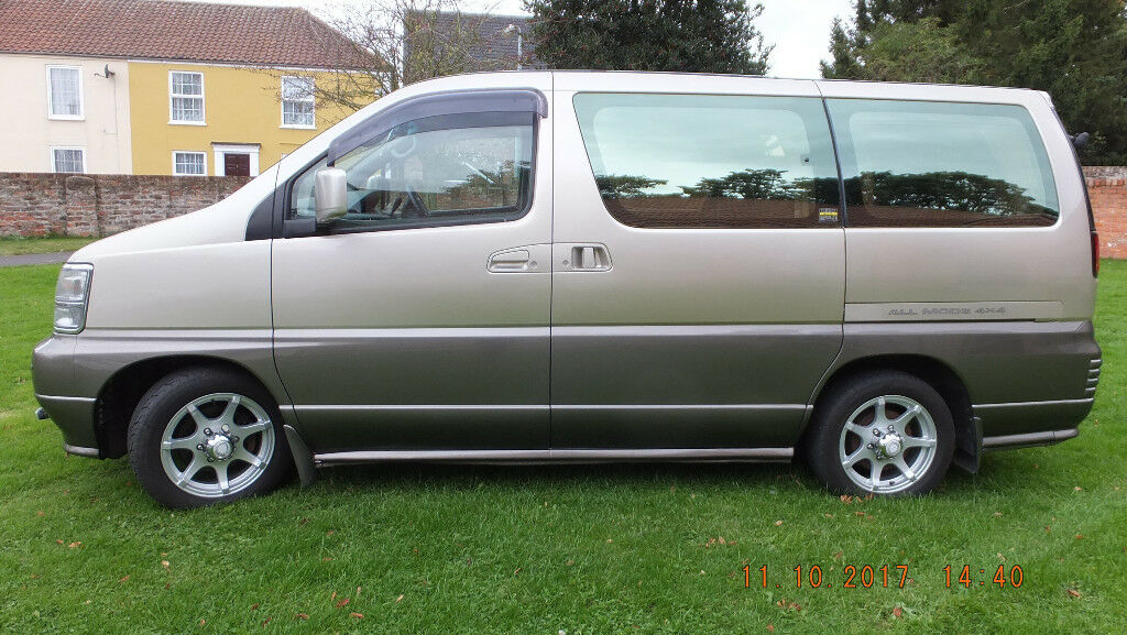 Nissan Elgrand (E50) 3.0 TD, 2/4WD, 7 seats MPV, Auto, o/d, a/c, electric curtains, 98000, full MOT