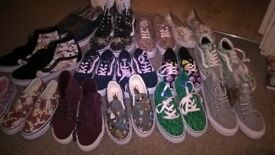 Brand new Vans trainers kids size 12 ladies 4.5 and mens 8