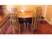 Nathan Dining Room Table and Four Chairs