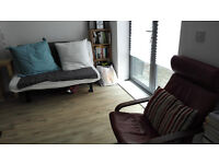 IKEA Lycksele sofabaed with mattress (nearly new) and Poang armchair