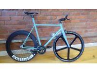 Brick Lane Bike - Viper 55 Army Green - Single Speed & Fixie