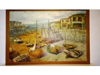 Vintage Original Oil Painting by Colin Maxwell Parsons ~ Teignmouth~Circa.1968